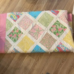 Lilly Pulitzer King Floral Dragonfly Quilt Sham